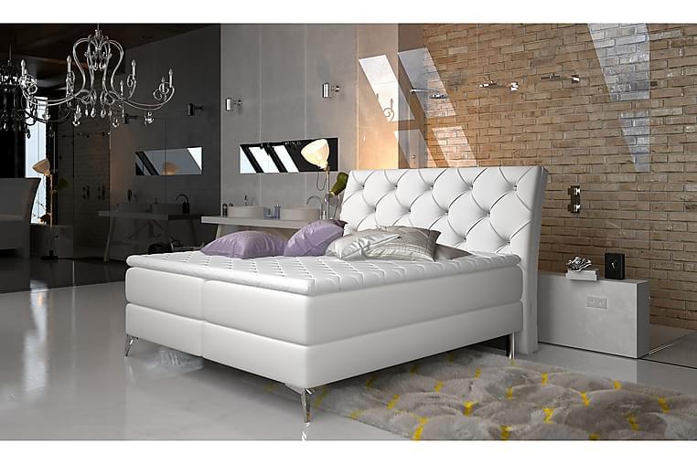 Runkosänky Paulene 160x200 cm - Valkoinen - Huonekalut - Sängyt - Parisängyt