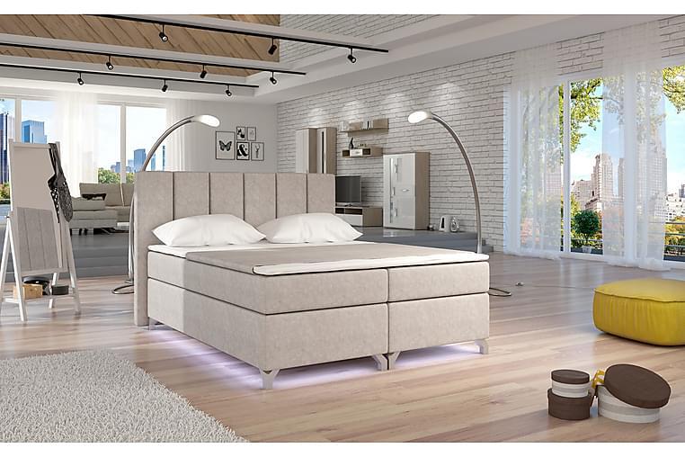 Runkosänky Soranda 160x200 cm - Beige - Huonekalut - Sängyt - Parisängyt