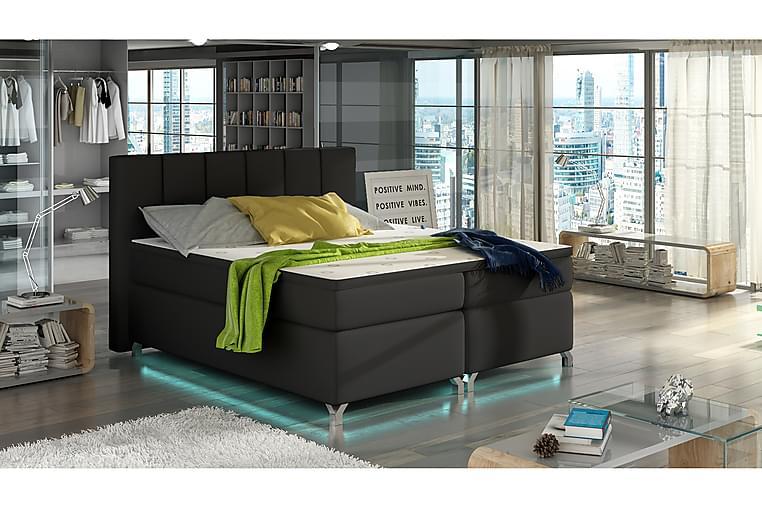 Runkosänky Soranda 160x200 cm - Musta - Huonekalut - Sängyt - Parisängyt