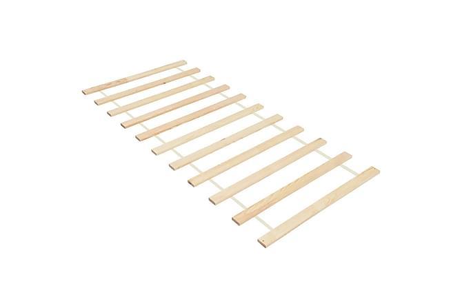 Käärittävä sängyn sälepohja 11 sälettä 90x200 cm täysi mänty - Ruskea - Huonekalut - Sängyt - Sälepohjat