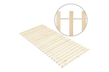 Käärittävä sängyn sälepohja 23 sälettä 90x200 cm täysi mänty