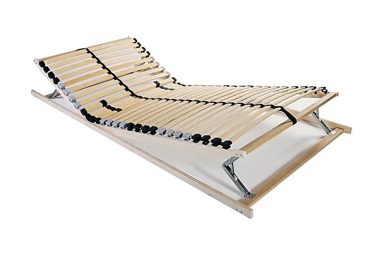 Sängyn sälepohjat 2 kpl 28 säleellä 7 vyöhykettä 70x200 cm - Huonekalut - Sängyt - Sälepohjat
