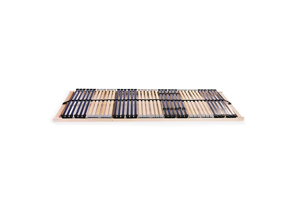 Sängyn sälepohjat 2 kpl 42 säleellä 7 vyöhykettä 90x200 cm - Huonekalut - Sängyt - Sälepohjat
