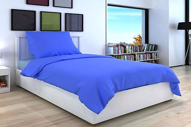 3-osainen Pussilakanasetti Puuvilla Sininen 200x200/60x70cm - Sininen - Huonekalut - Sängyt - Sängyn lisävarusteet