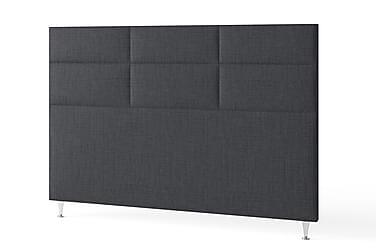 Sängynpääty 180 cm Ruudullinen Tummanharmaa