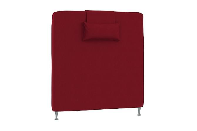 Sängynpääty 90 cm Sileä tyynyillä Punainen - Inbed - Huonekalut - Sängyt - Sängynpäädyt