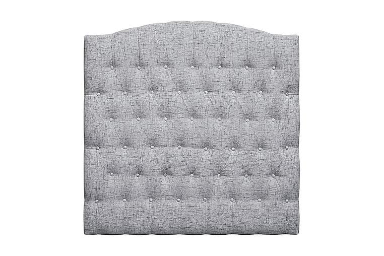 Sängynpääty Abelie 120 cm Kaareva - Vaaleanharmaa - Huonekalut - Sängyt - Sängynpäädyt