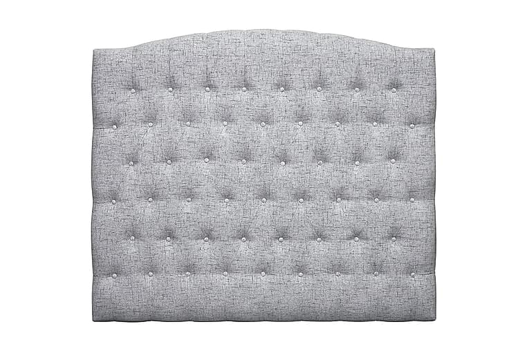 Sängynpääty Abelie 140 cm Kaareva - Vaaleanharmaa - Huonekalut - Sängyt - Sängynpäädyt