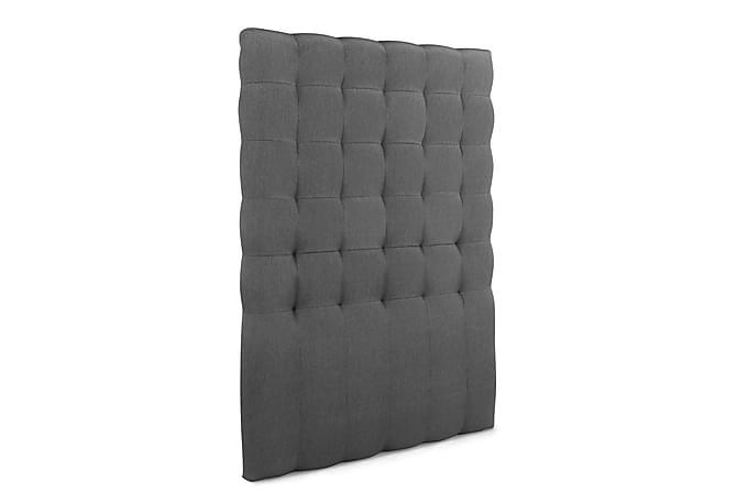 Sängynpääty Relax 120 cm Ruutukuvio Korkea - Harmaa - Huonekalut - Sängyt - Sängynpäädyt