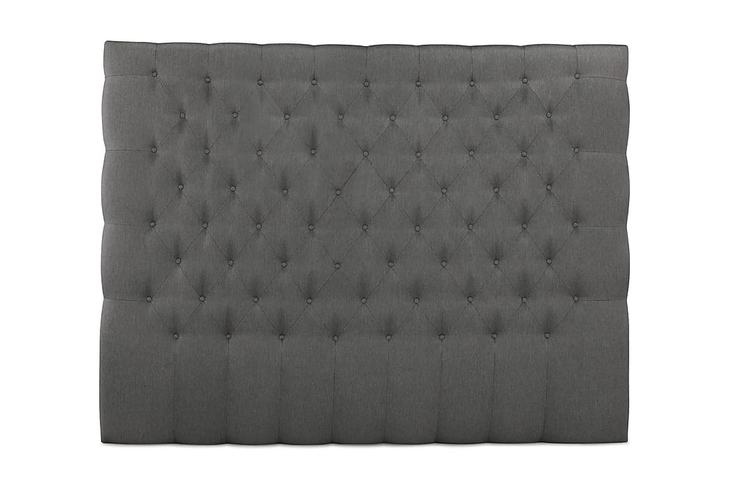 Sängynpääty Relax 210 cm Nappitoppaus Korkea - Harmaa - Huonekalut - Sängyt - Sängynpäädyt