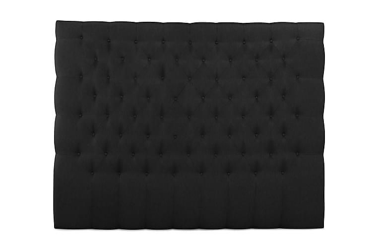 Sängynpääty Relax 210 cm Nappitoppaus Korkea - Musta - Huonekalut - Sängyt - Sängynpäädyt