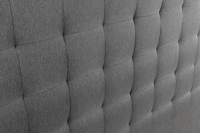 Sängynpääty Relax 210 cm Ruutukuvio Korkea - Harmaa - Huonekalut - Sängyt - Sängynpäädyt