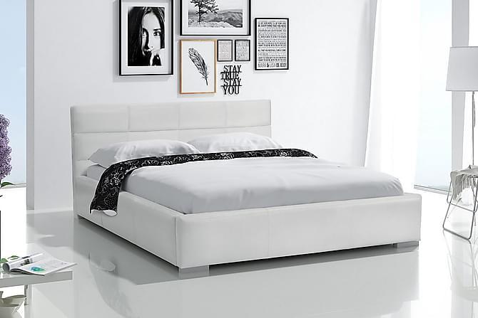 Sänky Apricis säilytyksellä 140x200 - Valkoinen - Huonekalut - Sängyt - Sängyt säilytystilalla