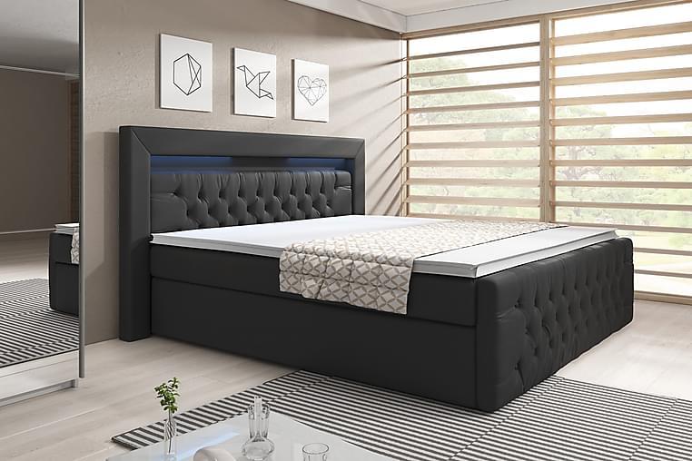 Sänkypaketti Celio 140x200 Nosto - Musta/Keinonahka - Huonekalut - Sängyt - Sängyt säilytystilalla