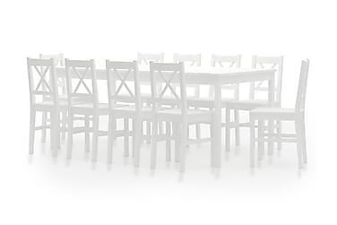 11-osainen ruokailuryhmä mänty valkoinen