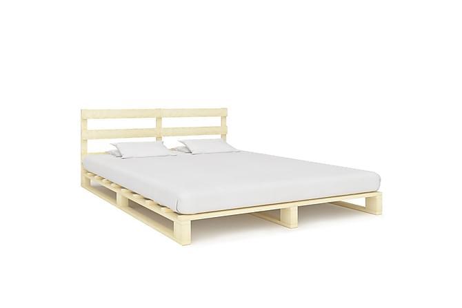 Lavasängynrunko täysi mänty 140x200 cm - Ruskea - Huonekalut - Sängyt - Sänkykehikot & sängynrungot