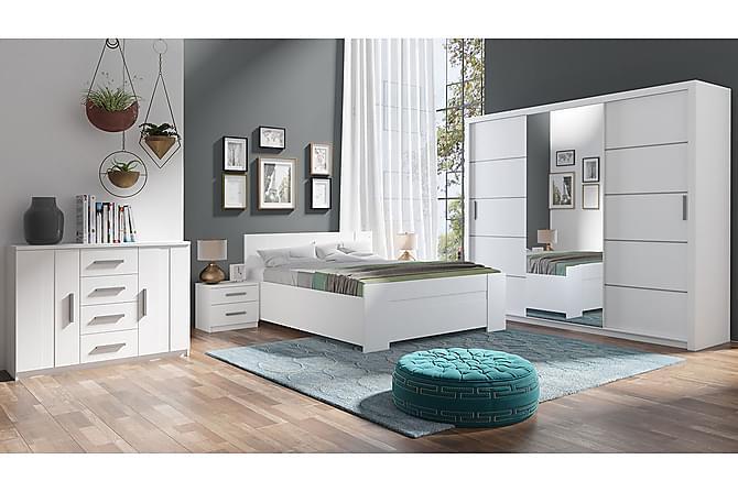 Makuuhuoneen kalustepaketti Bono - Valkoinen - Huonekalut - Sängyt - Sänkykehikot & sängynrungot