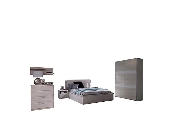 Makuuhuoneen kalustesetti Denver - Harmaa - Huonekalut - Sängyt - Sänkykehikot & sängynrungot