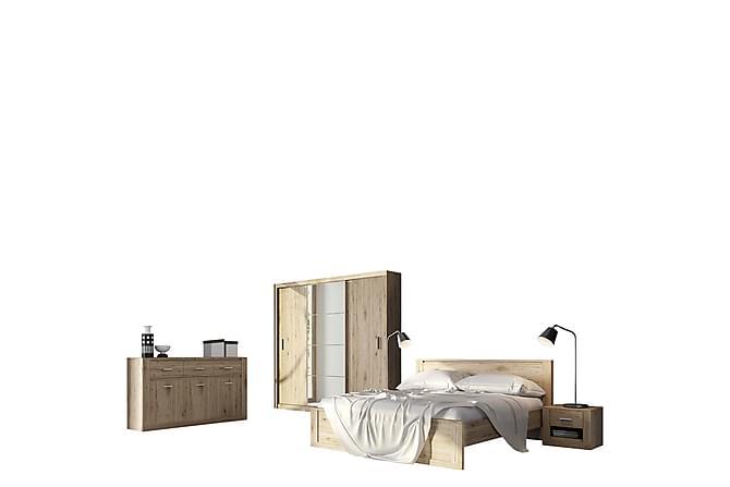 Makuuhuonesetti Idea - Beige | Harmaa | Valkoinen - Huonekalut - Sängyt - Sänkykehikot & sängynrungot