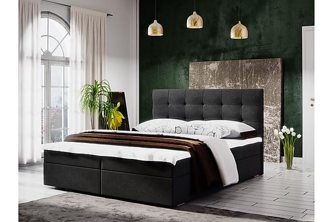 Pääty Fado 140x200 Ruutukuvio Pääty - Tummanharmaa - Huonekalut - Sängyt - Sänkypaketti