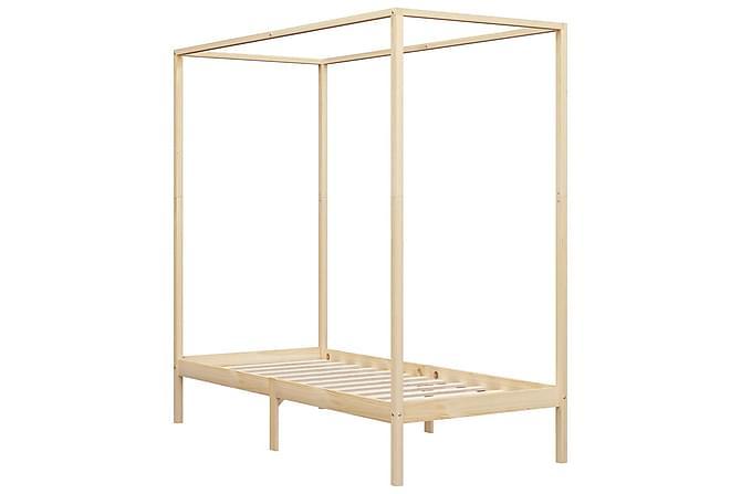 Pylvässänky täysi mänty 90x200 cm - Ruskea - Huonekalut - Sängyt - Sänkykehikot & sängynrungot