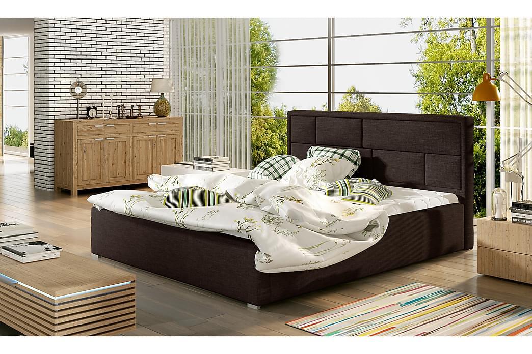 Sängynrunko Barronki 140x200 cm - Ruskea - Huonekalut - Sängyt - Sänkykehikot & sängynrungot