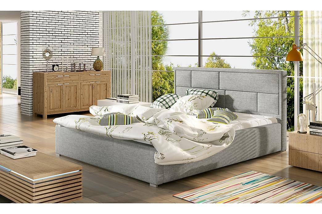 Sängynrunko Barronki 180x200 cm - Harmaa - Huonekalut - Sängyt - Sänkykehikot & sängynrungot