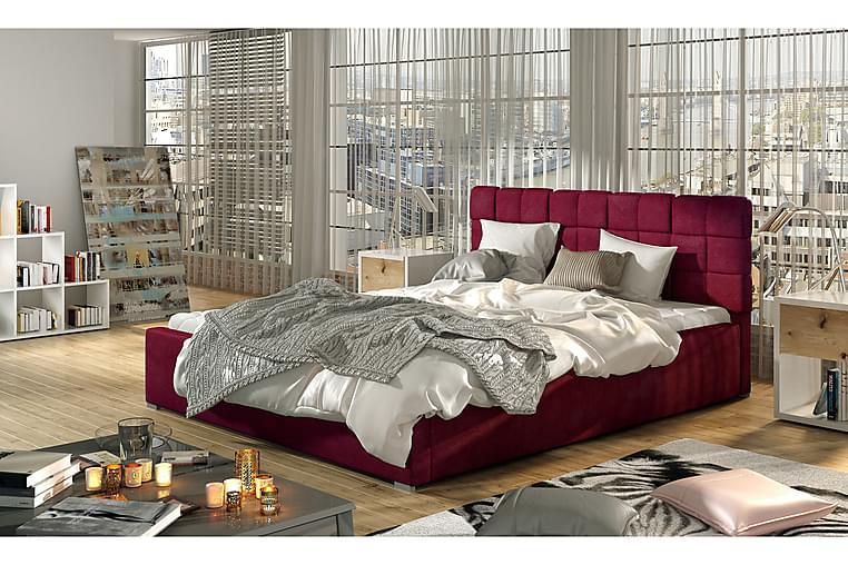 Sängynrunko Brandee 200x200 cm - Punainen - Huonekalut - Sängyt - Sänkykehikot & sängynrungot