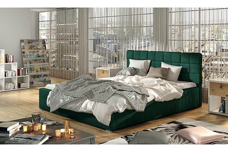 Sängynrunko Brandee 200x200 cm - Vihreä - Huonekalut - Sängyt - Sänkykehikot & sängynrungot