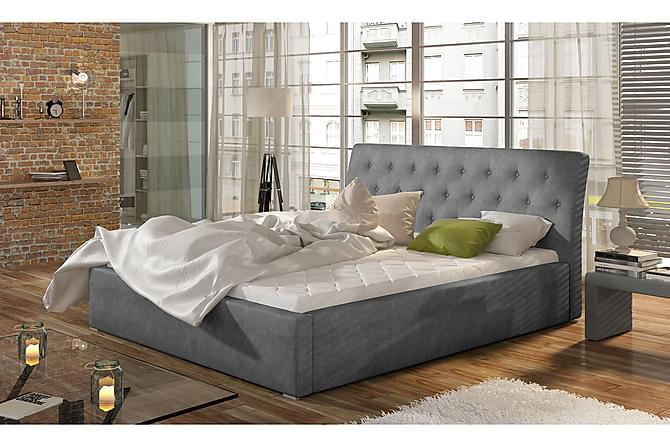 Sängynrunko Checa 140x200 cm - Harmaa - Huonekalut - Sängyt - Sänkykehikot & sängynrungot