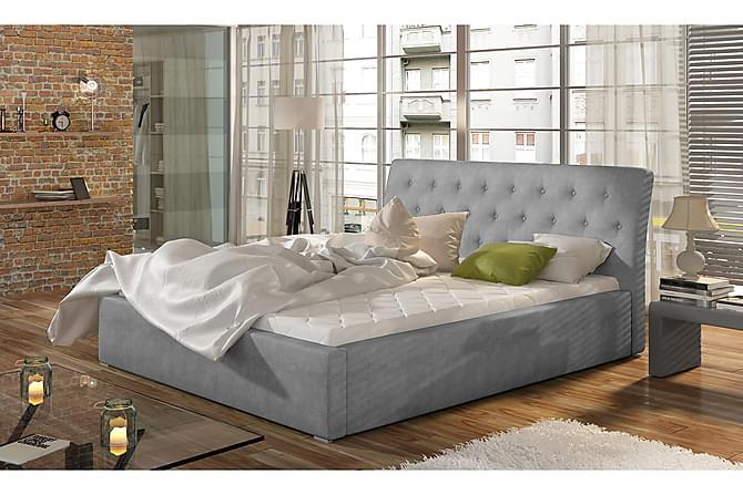 Sängynrunko Checa 200x200 cm - Harmaa - Huonekalut - Sängyt - Sänkykehikot & sängynrungot