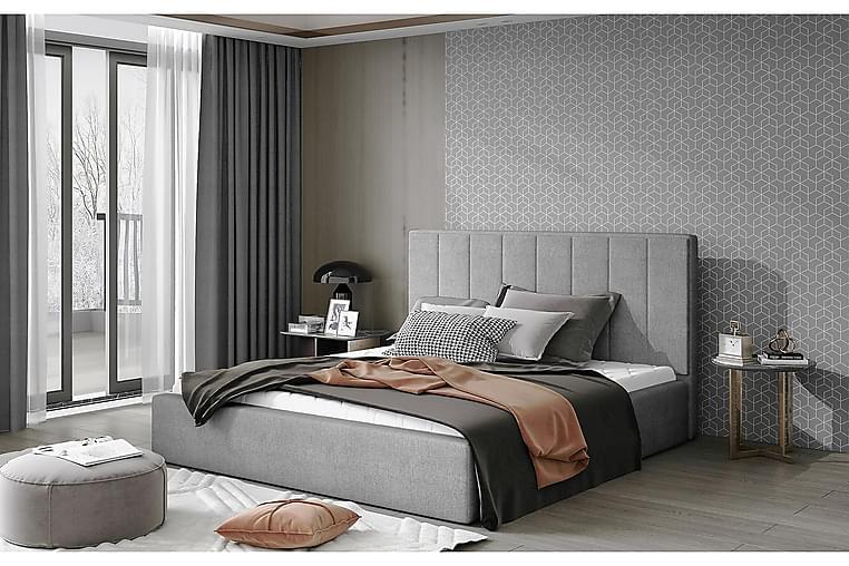 Sängynrunko Delden 160x200 cm - Harmaa - Huonekalut - Sängyt - Sänkykehikot & sängynrungot