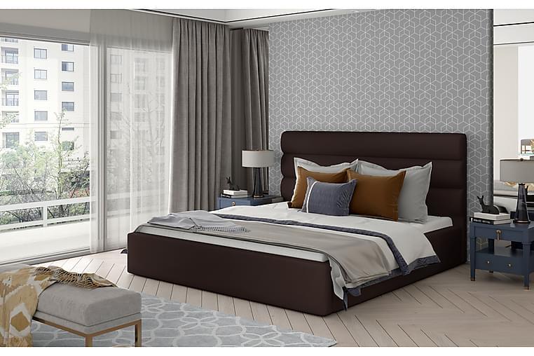 Sängynrunko Faverie 140x200 cm - Nahka/ruskea - Huonekalut - Sängyt - Sänkykehikot & sängynrungot