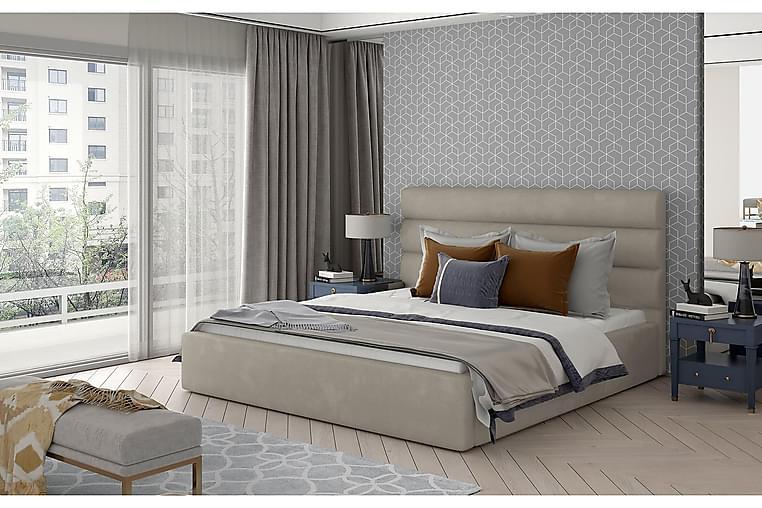 Sängynrunko Faverie 160x200 cm - Harmaa - Huonekalut - Sängyt - Sänkykehikot & sängynrungot