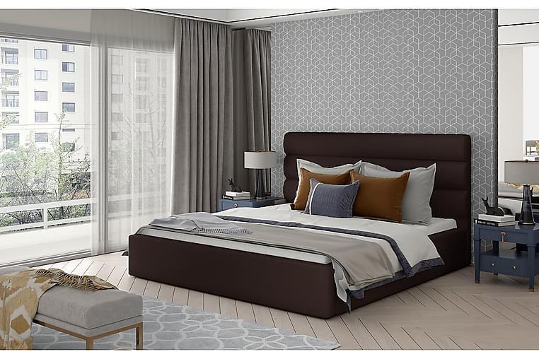 Sängynrunko Faverie 160x200 cm - Nahka/ruskea - Huonekalut - Sängyt - Sänkykehikot & sängynrungot