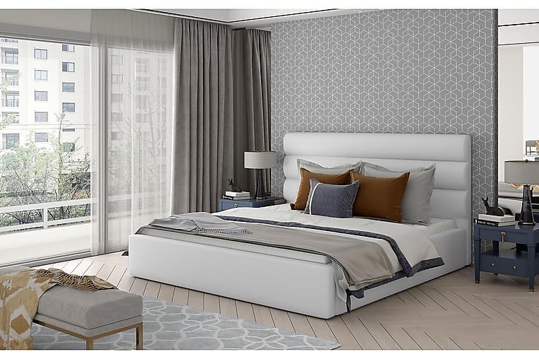 Sängynrunko Faverie 180x200 cm - Nahka/valkoinen - Huonekalut - Sängyt - Sänkykehikot & sängynrungot