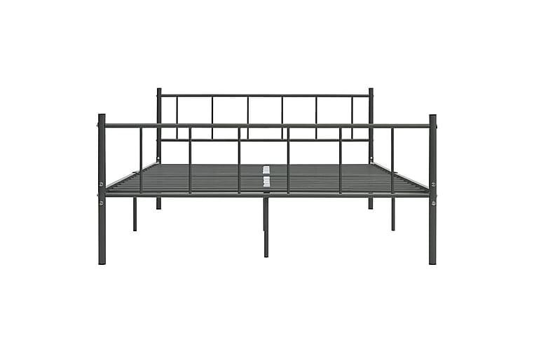 Sängynrunko harmaa metalli 200x200 cm - Harmaa - Huonekalut - Sängyt - Sänkykehikot & sängynrungot