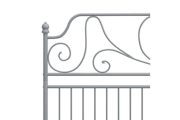 Sängynrunko harmaa metalli ja vaneri 180x200 cm - Harmaa - Huonekalut - Sängyt - Sänkykehikot & sängynrungot