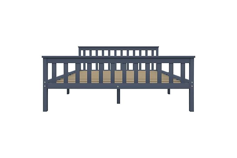 Sängynrunko harmaa täysi mänty 160x200 cm - Harmaa - Huonekalut - Sängyt - Sänkykehikot & sängynrungot