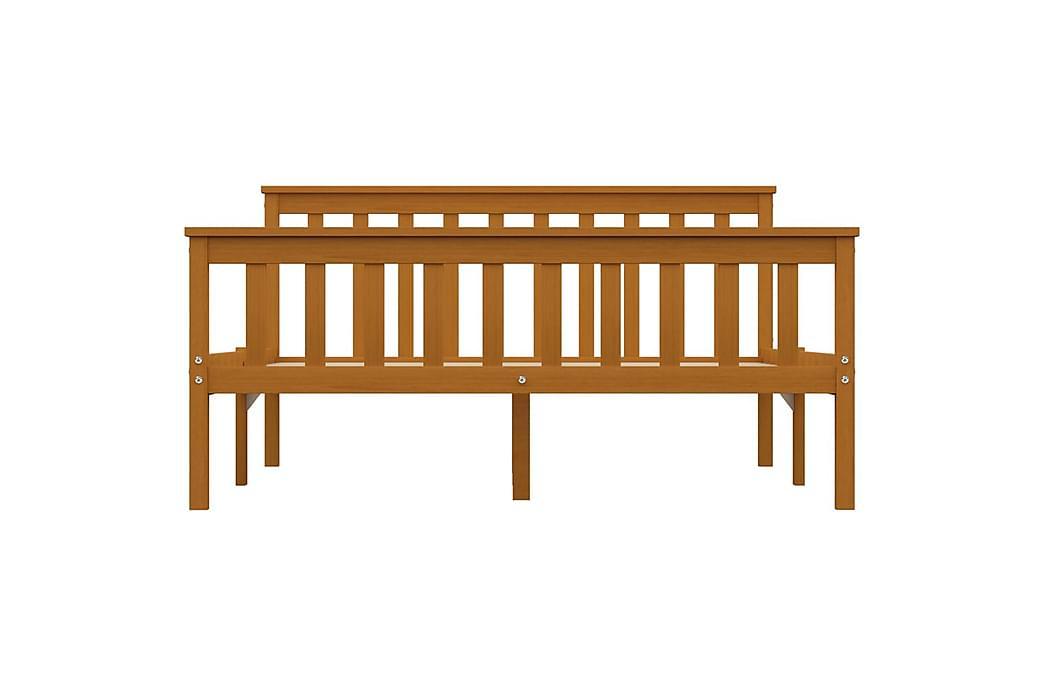 Sängynrunko hunajanruskea täysi mänty 140x200 cm - Ruskea - Huonekalut - Sängyt - Sänkykehikot & sängynrungot