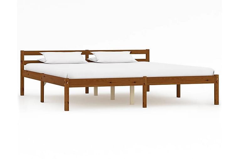 Sängynrunko hunajanruskea täysi mänty 180x200 cm - Ruskea - Huonekalut - Sängyt - Sänkykehikot & sängynrungot