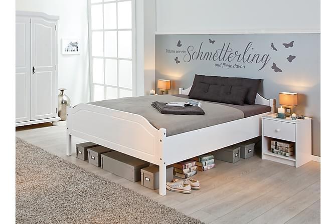 Sängynrunko Karlo 180x200 - Valkoinen - Huonekalut - Sängyt - Sänkykehikot & sängynrungot