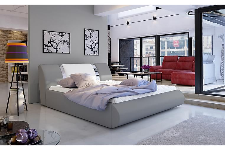 Sängynrunko Limoz 160x200 cm - Harmaa/Valkoinen - Huonekalut - Sängyt - Sänkykehikot & sängynrungot
