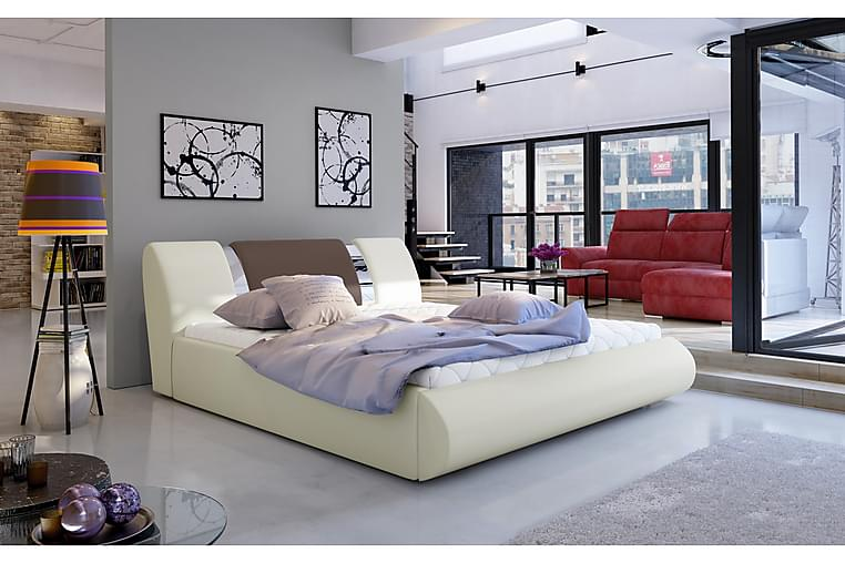 Sängynrunko Limoz 180x200 cm - Beige/Ruskea - Huonekalut - Sängyt - Sänkykehikot & sängynrungot
