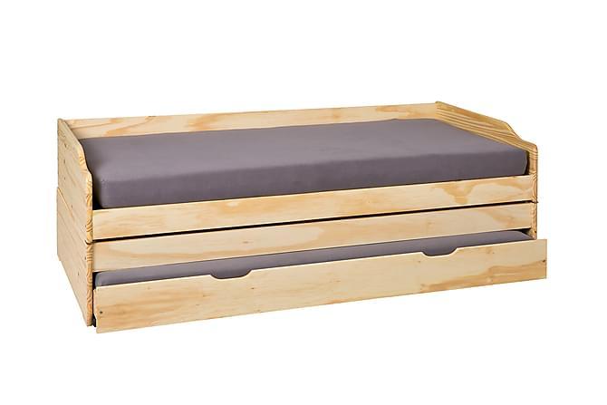 Sängynrunko Lotar 90x200 - Luonnonväri - Huonekalut - Sängyt - Sälepohjat