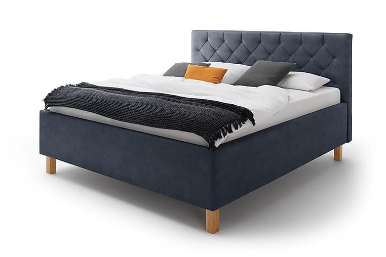 Sängynrunko Mereta säilytystilalla 180x200 cm - Sininen/Tammi - Huonekalut - Sängyt - Sänkykehikot & sängynrungot