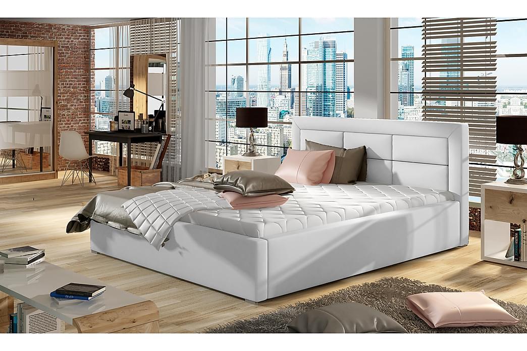 Sängynrunko Monreale 140x200 cm - Valkoinen - Huonekalut - Sängyt - Sänkykehikot & sängynrungot