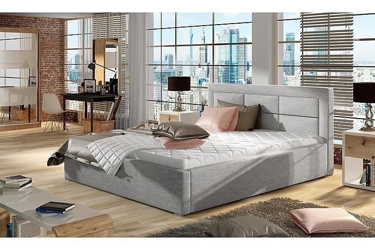Sängynrunko Monreale 180x200 cm - Harmaa - Huonekalut - Sängyt - Sänkykehikot & sängynrungot