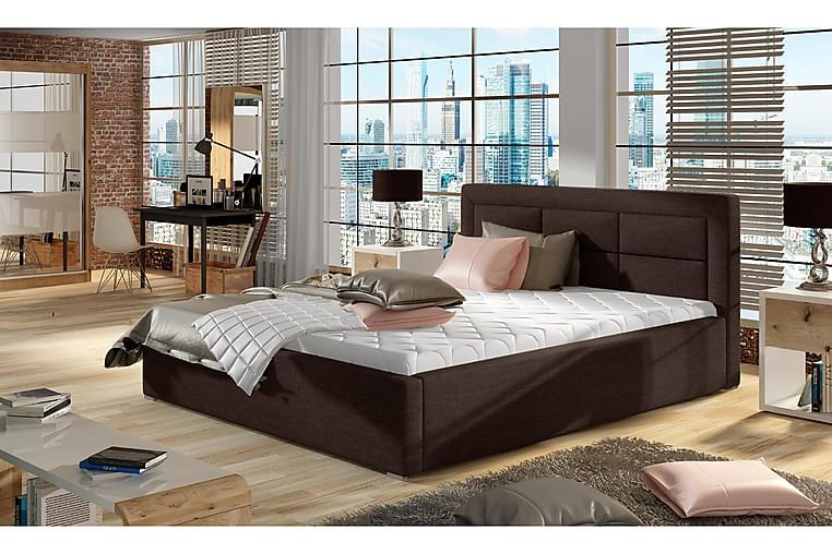 Sängynrunko Monreale 180x200 cm - Ruskea - Huonekalut - Sängyt - Sänkykehikot & sängynrungot