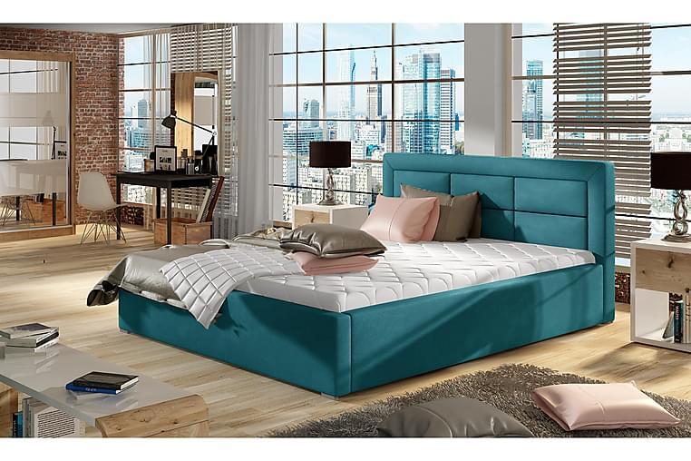 Sängynrunko Monreale 180x200 cm - Sininen - Huonekalut - Sängyt - Sänkykehikot & sängynrungot